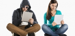 Teen girl in potential internet danger with man in disguise