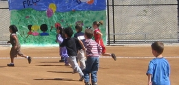 children playing at Pacific Beach Elementary
