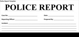 Image of Police Report