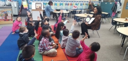 Councilmember Cole reads to Webster Elementary School Children
