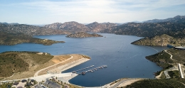 Aerial view of San Vicente Reservoir