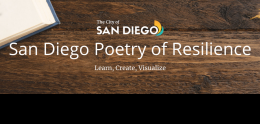 San Diego Poetry of Resilience Learn, Create, Visualize Flier
