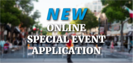 New Online Special Event Application