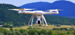 closeup of drone in flight
