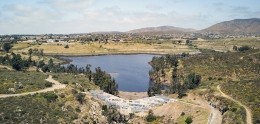 Aerial view of Upper Otay Reservoir