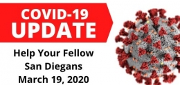 COVID-19 Update: Help Your Fellow San Diegans March 19, 2020
