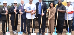 Photo of groundbreaking for Jackie Robinson YMCA