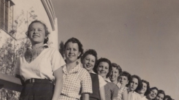 1935-36 California Pacific Exposition, Fourteen Girls Lined up