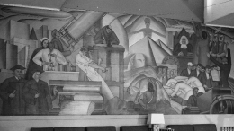 Progress of Man Mural by Belle Baranceau