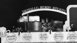 1949 Fiesta Bahia Float - San Diego AFL Brewery Affiliates