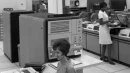 Data Processing in City Administration Building in 1968