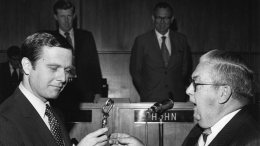 Changing Mayors in 1971 - Frank Curran to Pete Wilson