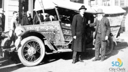 Mayor Edwin Capps and Pioneer Ezra Meeker in 1916
