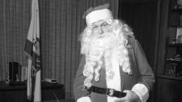 Mayor Curran as Santa Claus in 1968