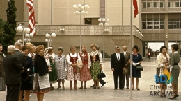 Polish Flag Day Ceremony on the Concourse in 1969
