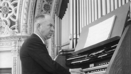Royal A. Brown at Spreckels Organ in 1935