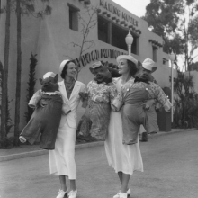 Young ladies won prizes at the 1935 Expo