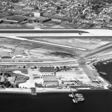Aerial shot of Coast Guard building