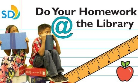 Do Your Homework @ the Library banner.