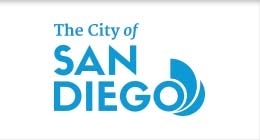 Logo of The City of San Diego in Blue