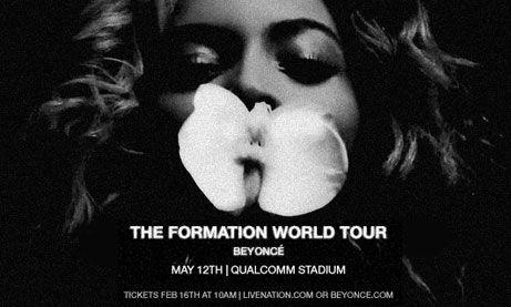 Photo of Beyonce Formation World Tour at Qualcomm Stadium
