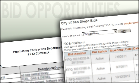 Photo Collage of Bids and Contracts