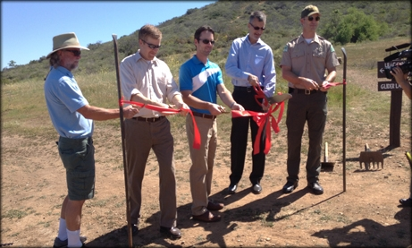Photo of Councilman Kersey at Black Mountain OPen Space Park
