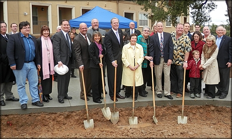Photo of Councilmember Sherman participating in the groundbreaking ceremony for Ed Cramer Park in Linda Vista