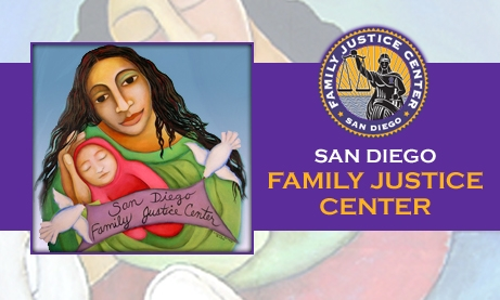 Photo Collage of San Diego Family Justice Center Logos