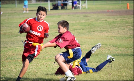 Photo of a flag football game