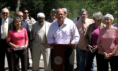 Photo of Councilmember Sherman speaking at the Kumeyaay Campgrounds Reopening