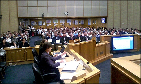 Photo of City Council meeting audience