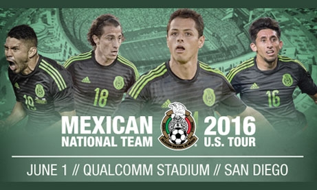 Photo of Mexican National Soccer Team U.S. Tour 2016 at Qualcomm
