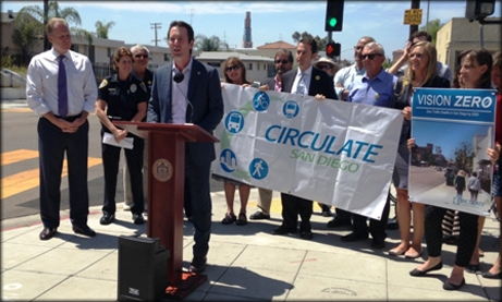 Photo of Councilman Kersey at Vision Zero news conference