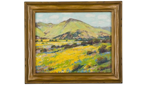 Photo of oil painting titled Spring Fields by Alfred Mitchell