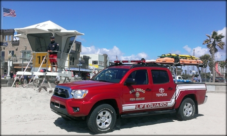 Photo of Toyota Lifeguard Vehicle on the Beach