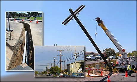 Photo Collage of Utility Poles