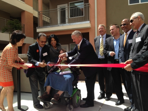 Photo of grand opening of Ouchi Courtyards