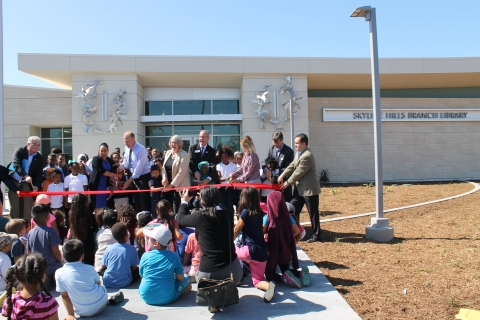 Photo taken at Skyline Hills Branch Library Grand Opening