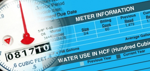 collage of water meter and meter information