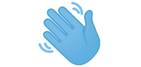 Graphic of waving hand