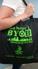 Photo of BYOB reusable bag