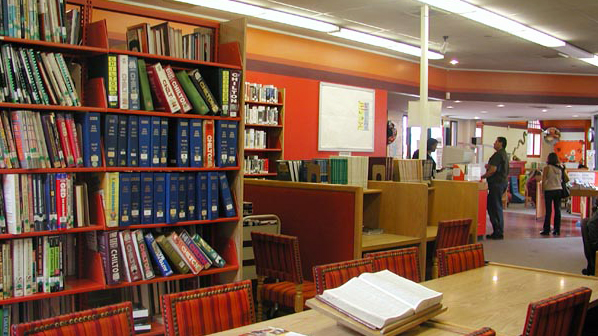 Reading area at the San Ysidro Library