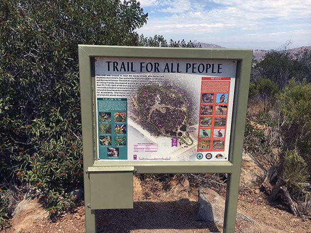 Photo of Trail for All People information board