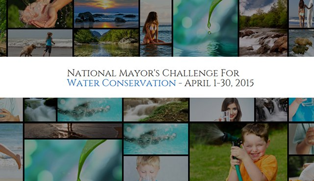 Photo Collage of Water Usage, National Mayor's Challenge for Water Conservation - April 1-30, 2015